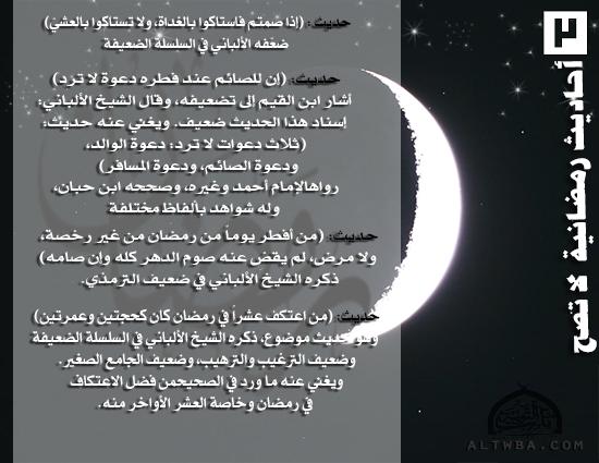 أحاديث رمضانية لا تصح (3)